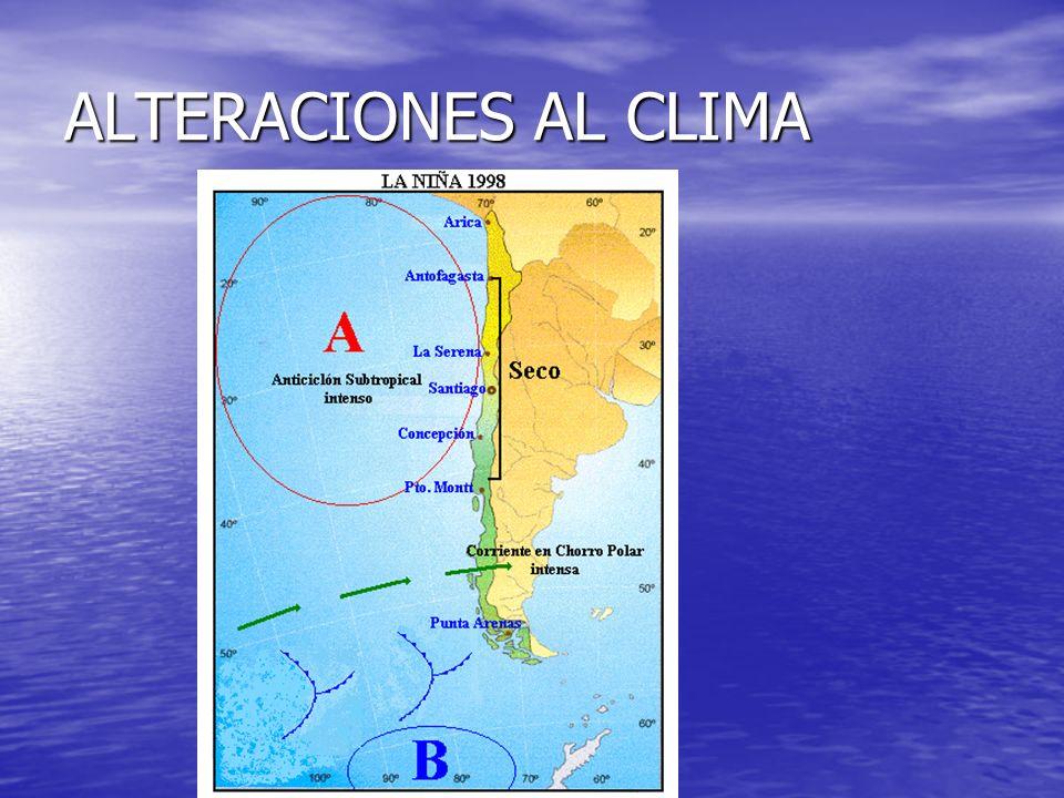 ALTERACIONES AL CLIMA