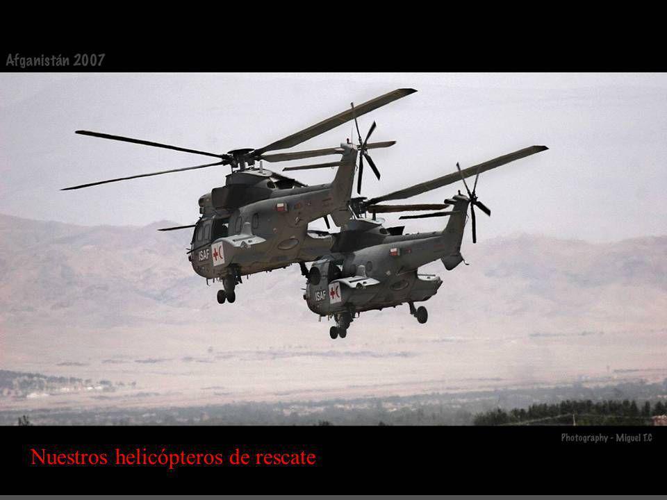 Nuestros helicópteros de rescate