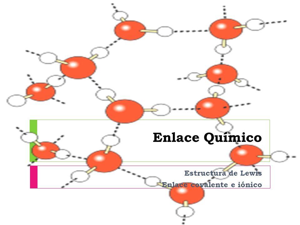 El enlace químico Fuerzas de atracción que mantiene unidos a dos o más átomos.
