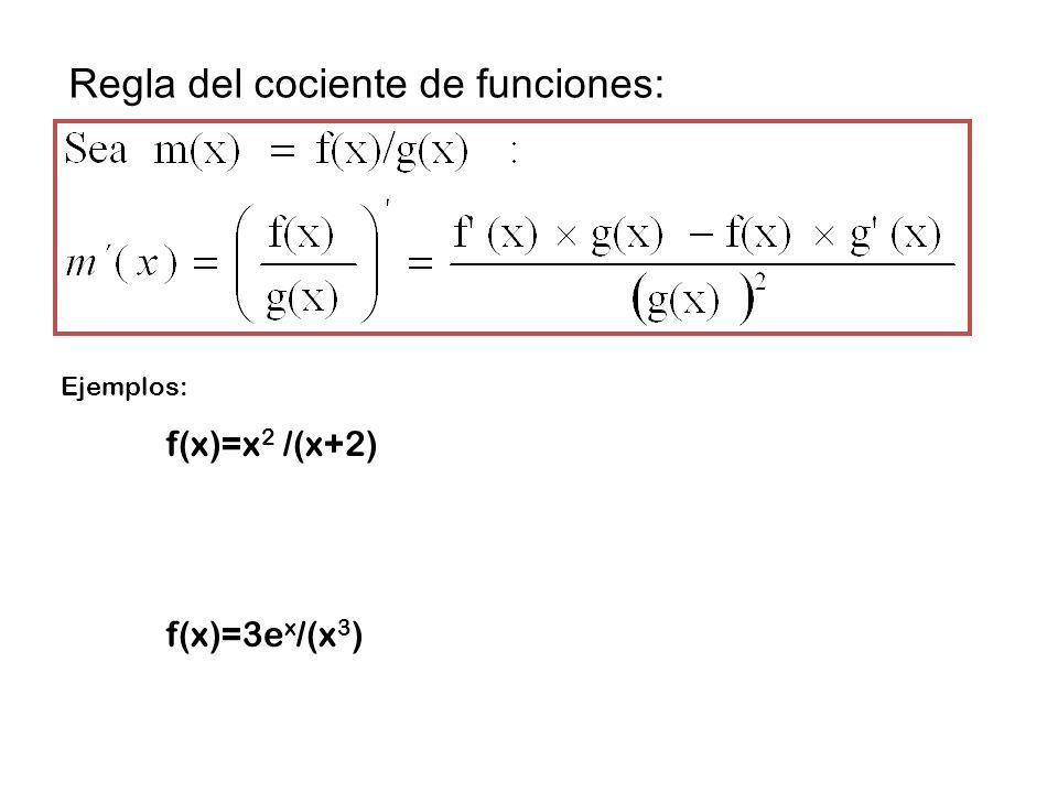 Encuentra la derivada de las siguientes funciones: