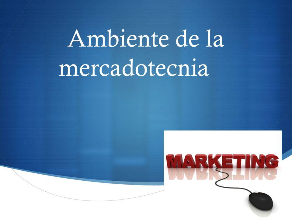 El ambiente de la mercadotecnia consiste en fuerzas incontrolables que rodean a la compañía.