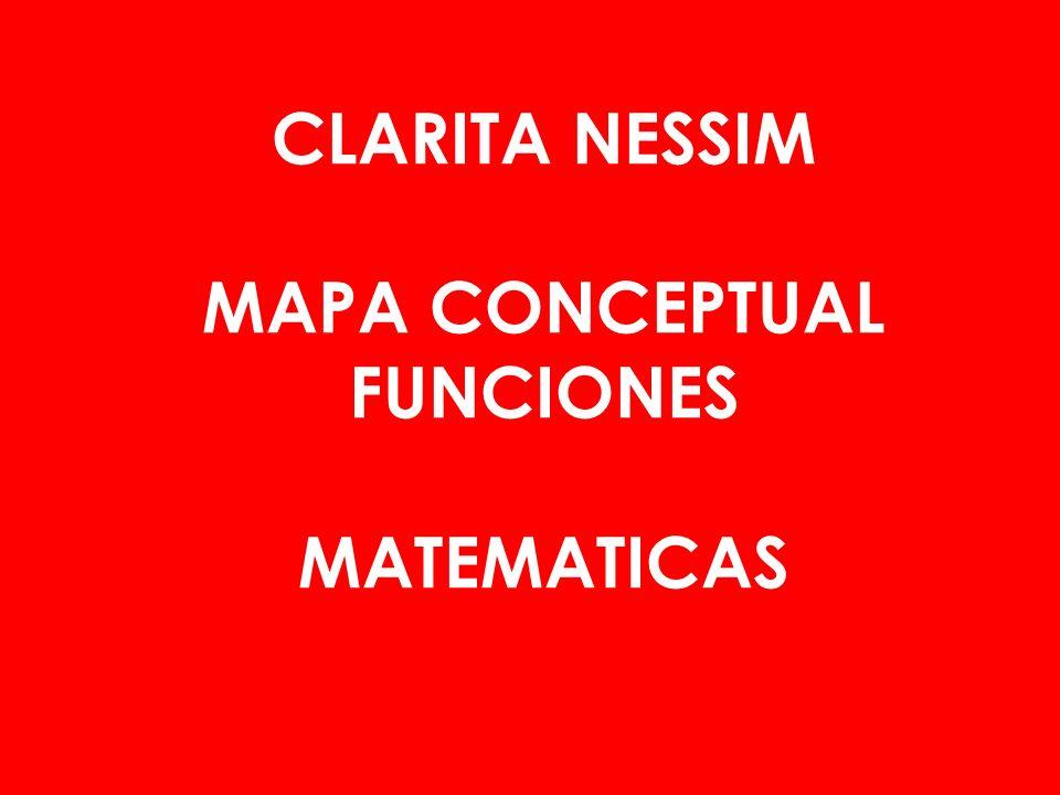 CLARITA NESSIM MAPA CONCEPTUAL FUNCIONES MATEMATICAS