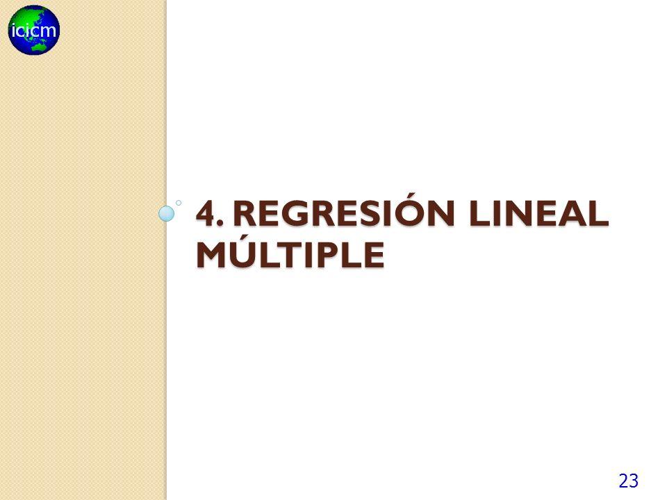 4. REGRESIÓN LINEAL MÚLTIPLE 23