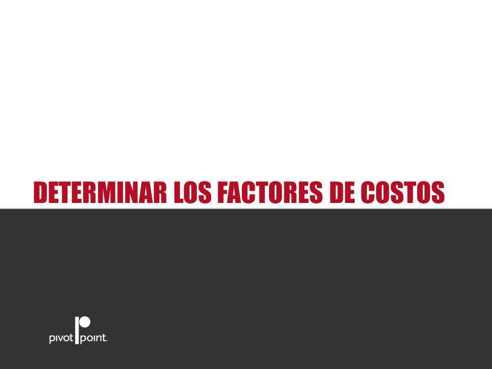 Pivot Point International DETERMINAR LOS FACTORES DE COSTOS