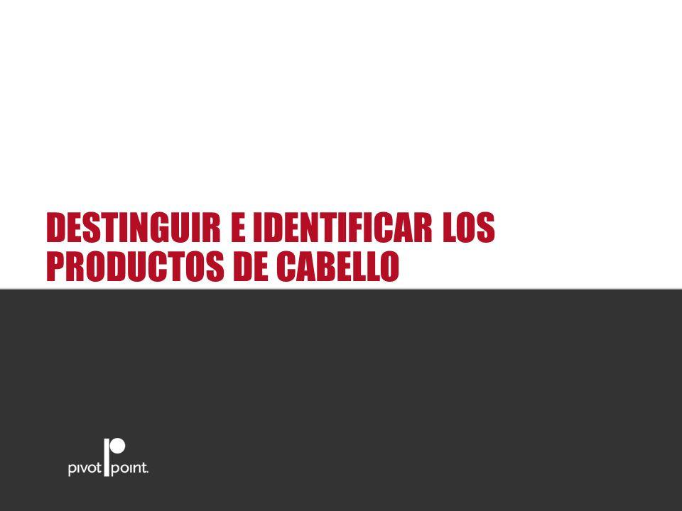 Pivot Point International DESTINGUIR E IDENTIFICAR LOS PRODUCTOS DE CABELLO