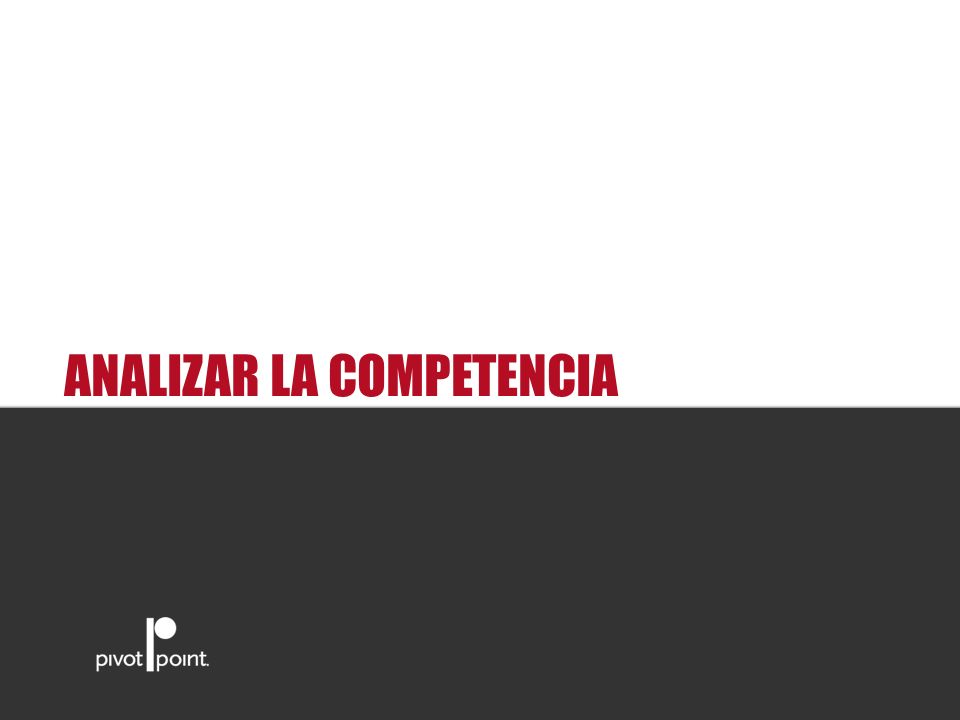 Pivot Point International ANALIZAR LA COMPETENCIA