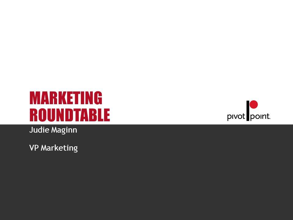 Pivot Point International MARKETING ROUNDTABLE Judie Maginn VP Marketing