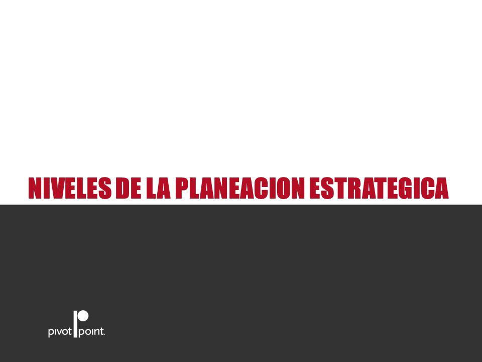 Pivot Point International NIVELES DE LA PLANEACION ESTRATEGICA