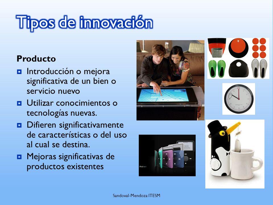 Producto Introducción o mejora significativa de un bien o servicio nuevo Utilizar conocimientos o tecnologías nuevas. Difieren significativamente de c