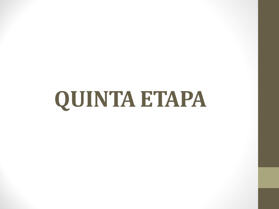 QUINTA ETAPA