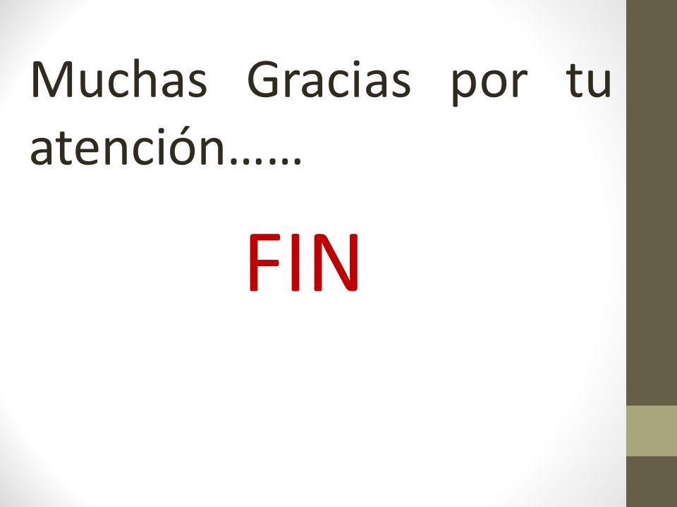 Muchas Gracias por tu atención…… FIN