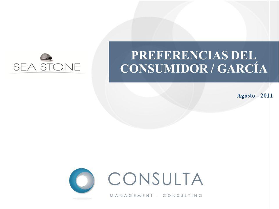 Agosto - 2011 PREFERENCIAS DEL CONSUMIDOR / GARCÍA