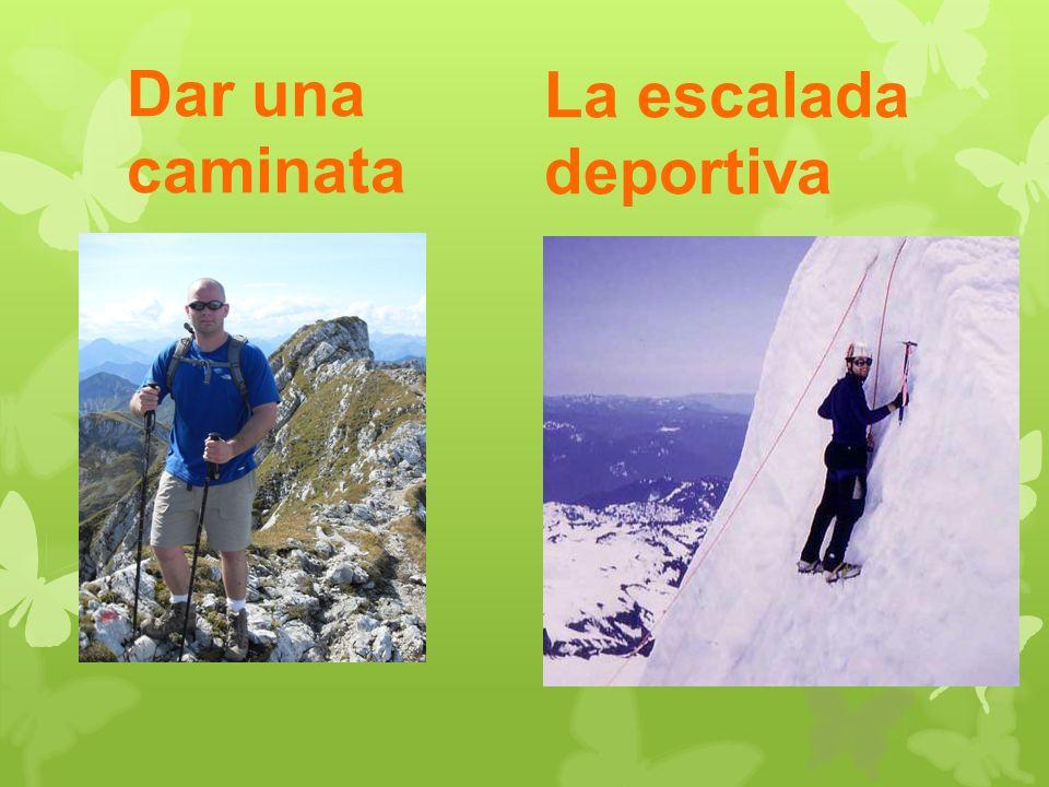 Dar una caminata La escalada deportiva