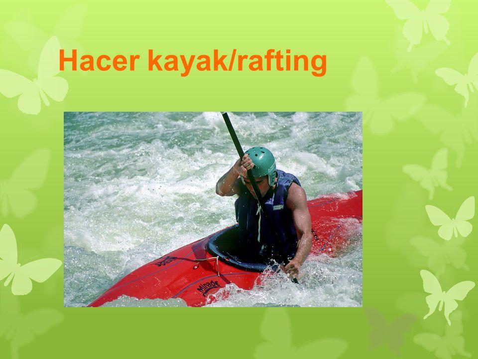 Hacer kayak/rafting