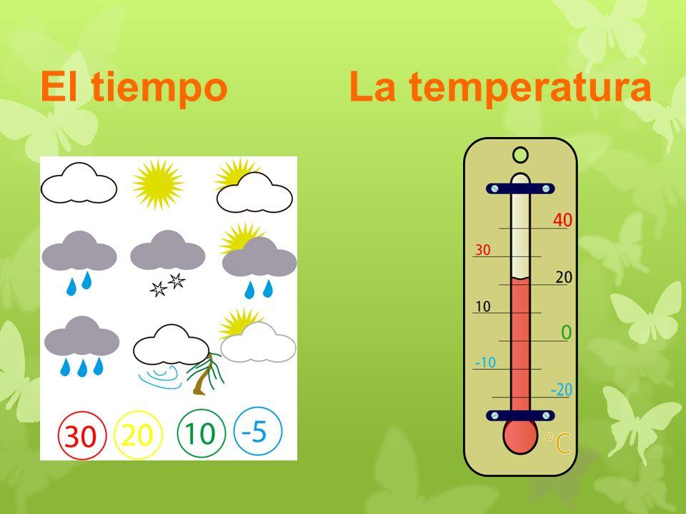 El tiempo La temperatura