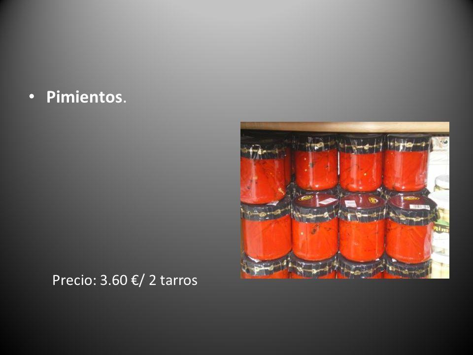 Pimientos. Precio: 3.60 / 2 tarros