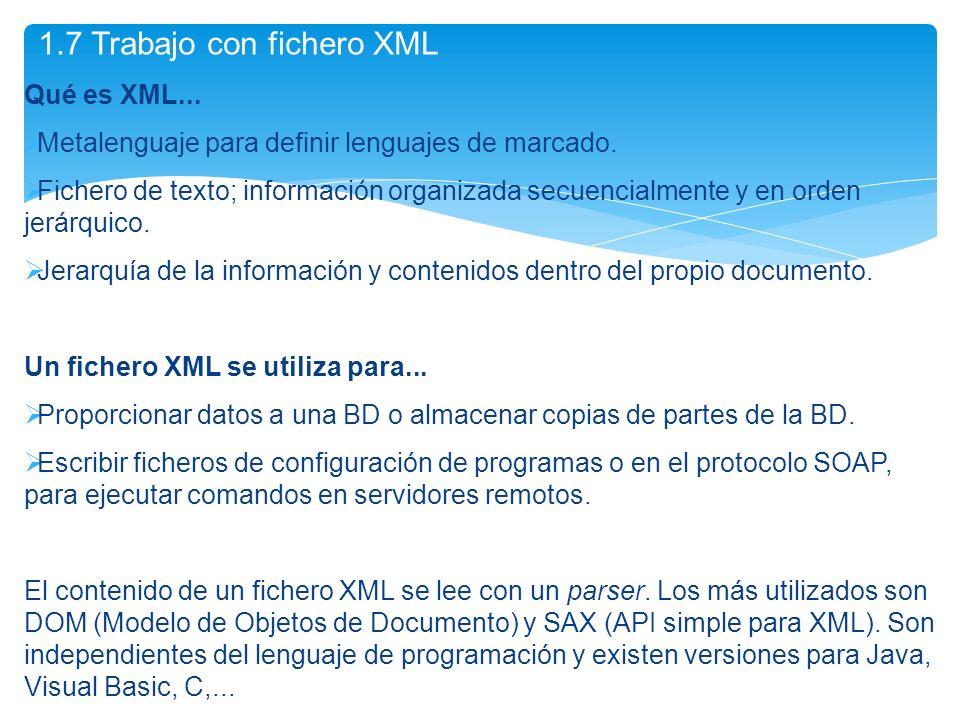 Qué es XML... Metalenguaje para definir lenguajes de marcado. Fichero de texto; información organizada secuencialmente y en orden jerárquico. Jerarquí