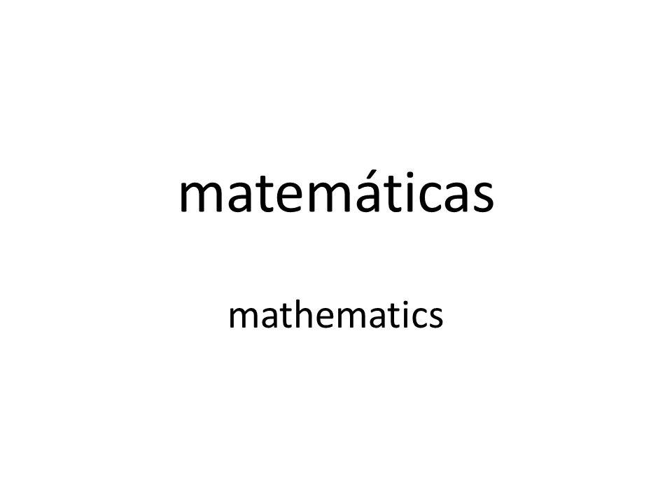 matemáticas mathematics