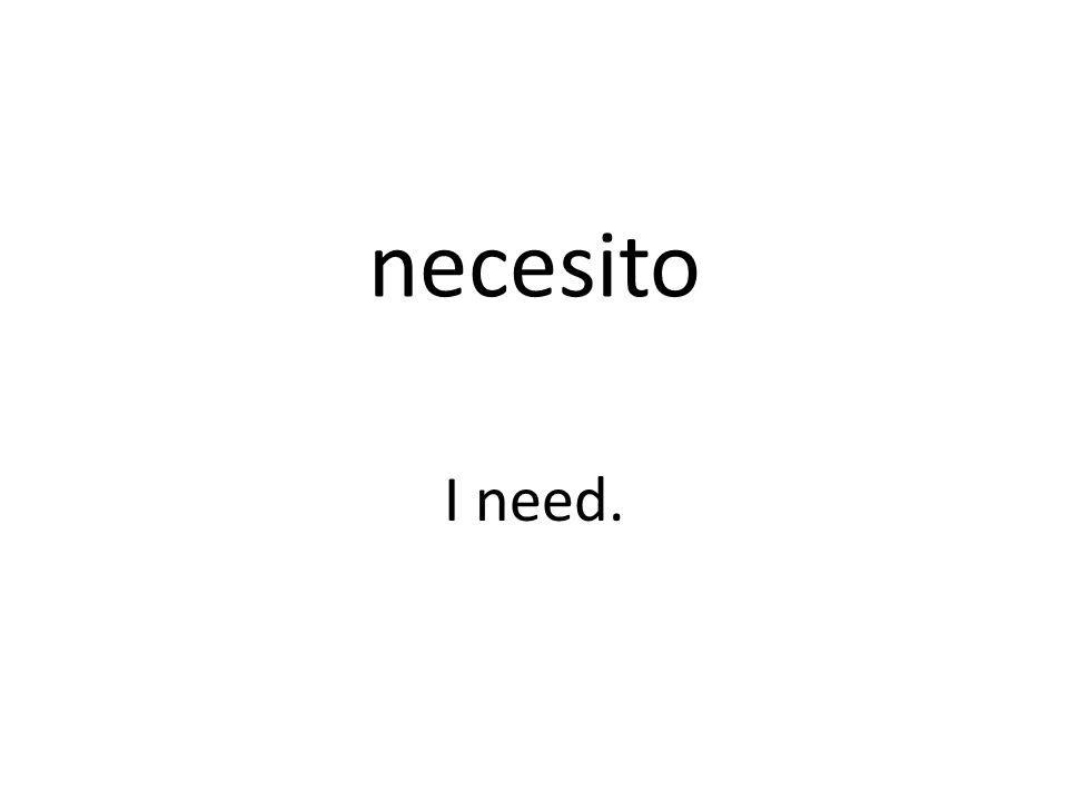 necesito I need.