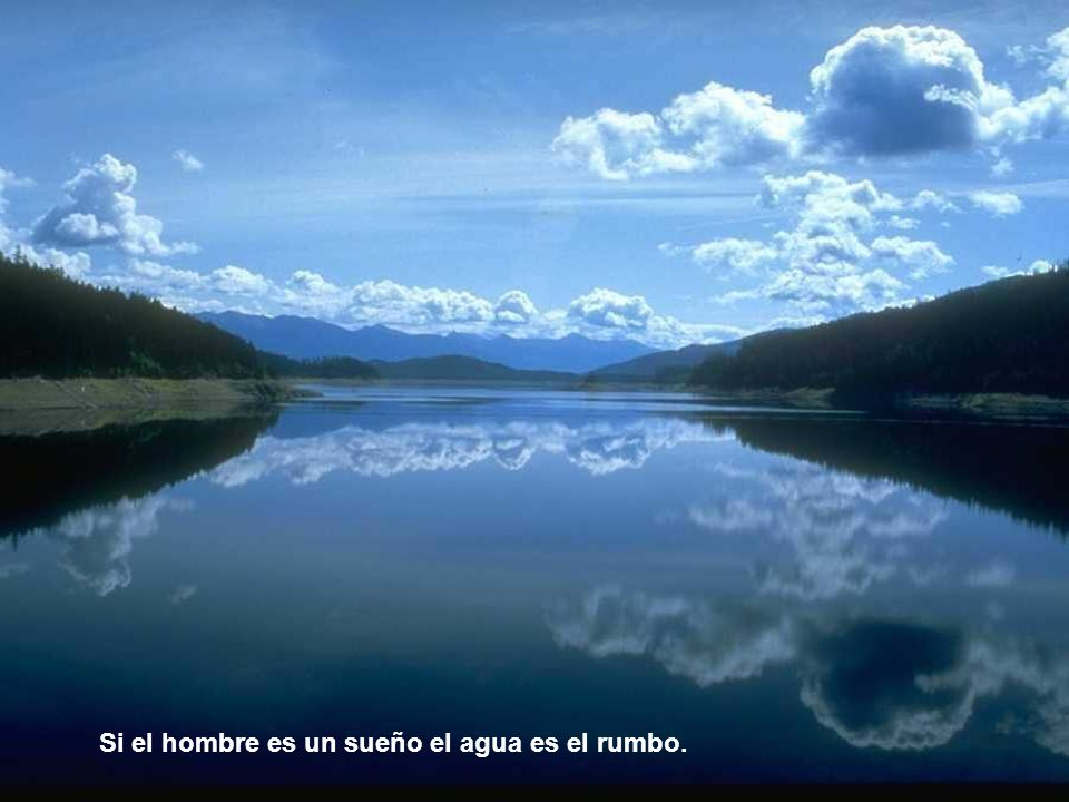 Si el hombre es un sueño el agua es el rumbo.