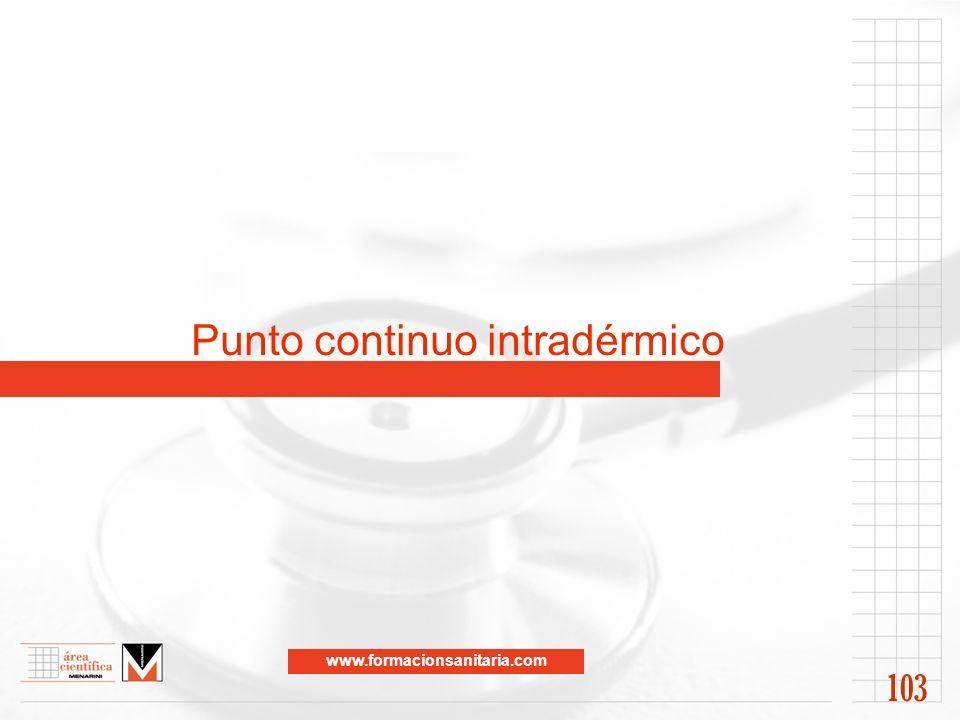 www.formacionsanitaria.com Punto continuo intradérmico 103