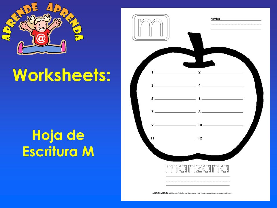 Worksheets: Lee y relaciona M