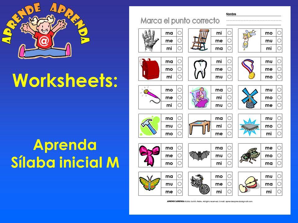 Worksheets: Cuadro 6 x 5 Dibujos M