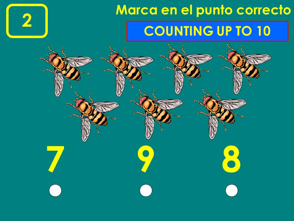 17 Marca en el punto correcto 543 COUNTING UP TO 5
