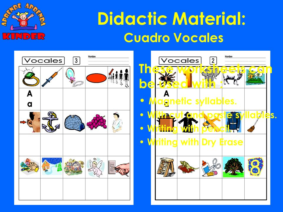 Didactic Material: Exercises to prepare the APRENDA test