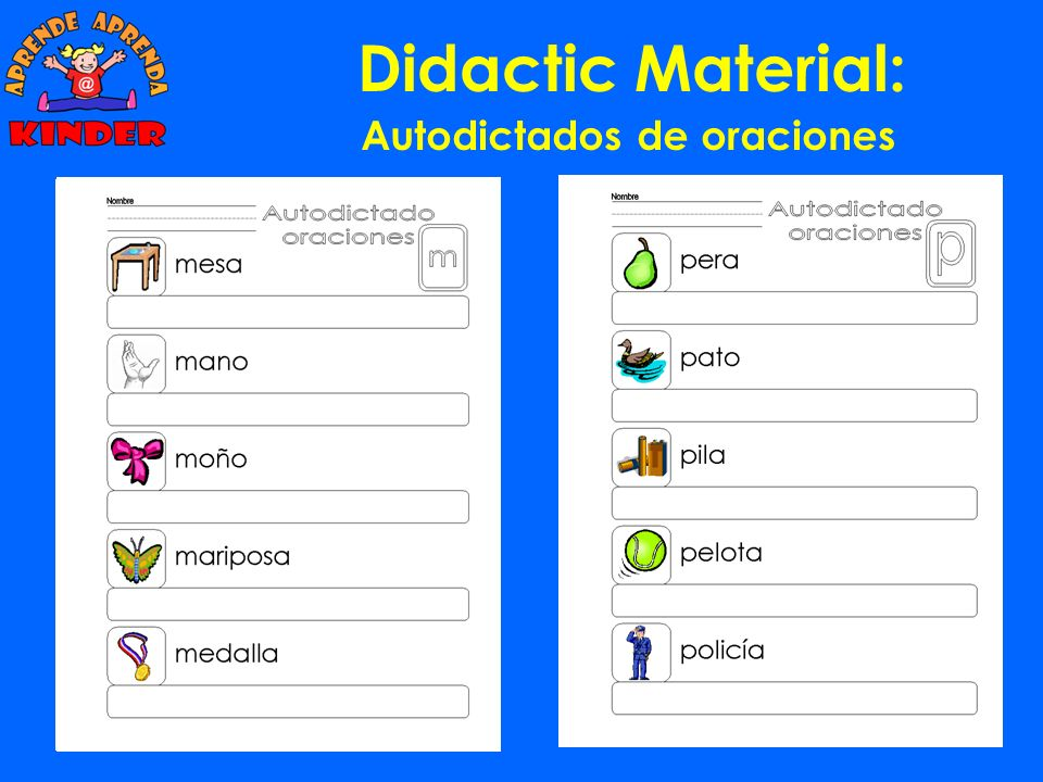 Didactic Material: Autodictados de palabras