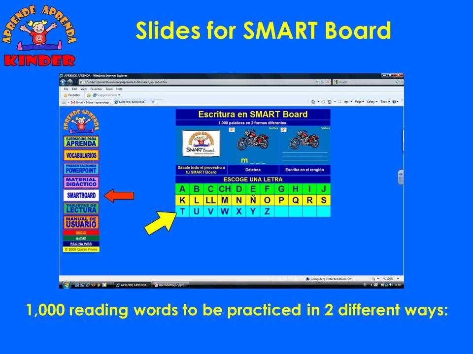 Didactic Material: Hojas de escritura Se usan al final de la semana para ver que palabras recuerdan mejor los alumnos.