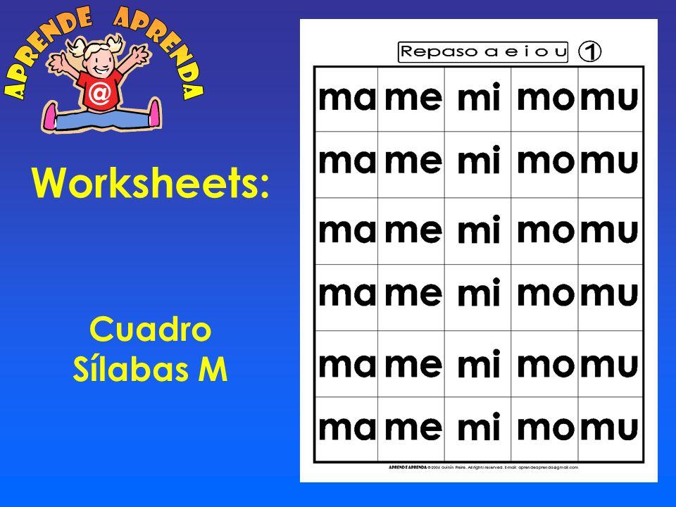 Worksheets: Cuadro 6 x 5 M