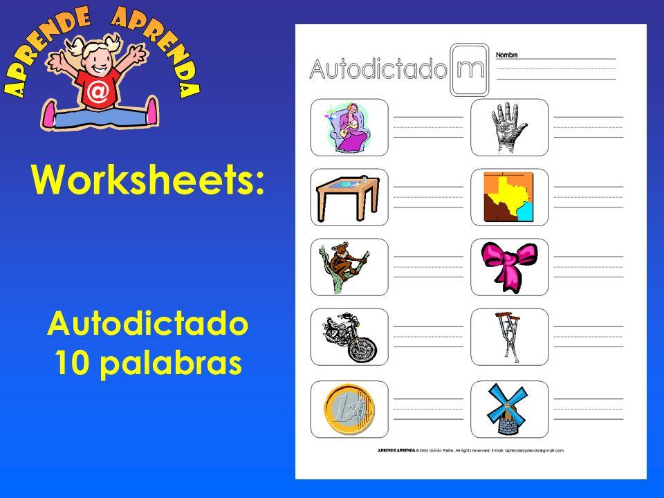 Worksheets: Cuadro Sílabas M