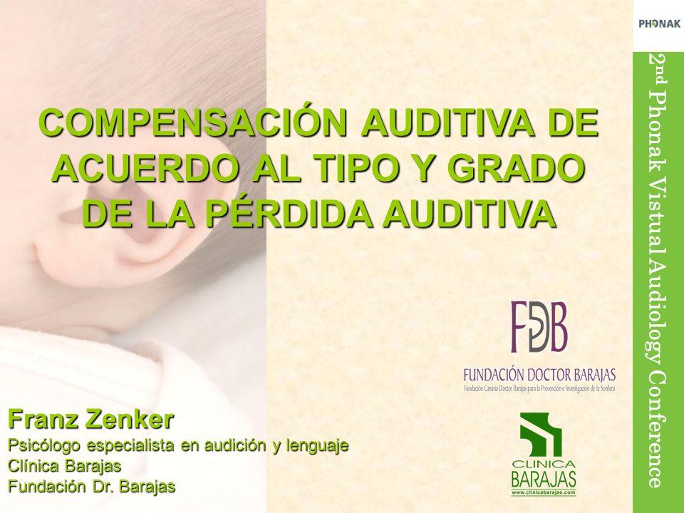 2 nd Phonak Vistual Audiology Conference Franz Zenker Psicólogo especialista en audición y lenguaje Clínica Barajas Fundación Dr. Barajas COMPENSACIÓN
