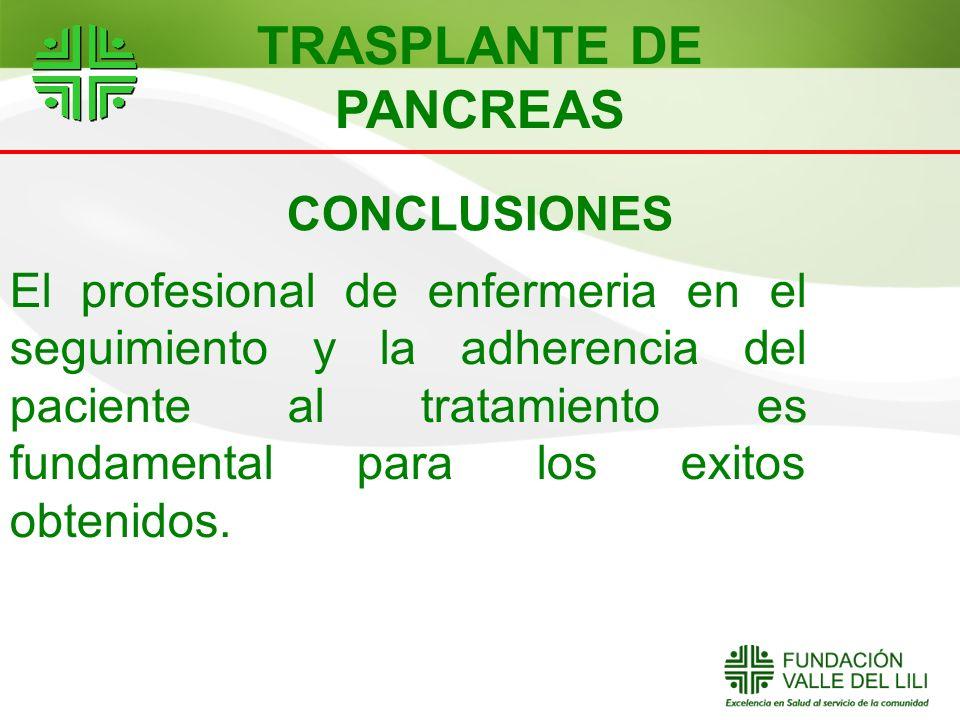 CONCLUSIONES El profesional de enfermeria en el seguimiento y la adherencia del paciente al tratamiento es fundamental para los exitos obtenidos. TRAS