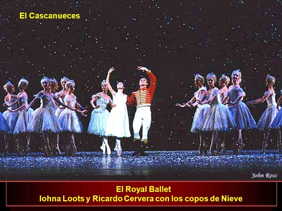 El Royal Ballet Ivan Putrov como el Príncipe y Roberta Marquez como la Hada Doce El Cascanueces