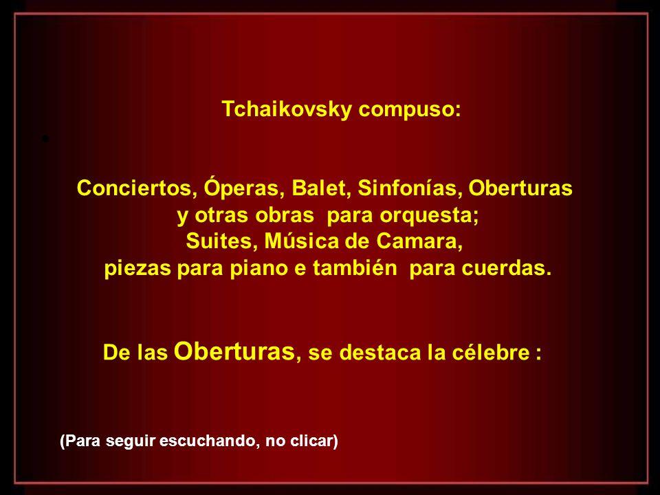 Tres mujeres marcaron la vida de Tchaikovsky: - Su madre, por la cual nutria un desmesurado amor - Antonina Ivanovna Miliukova, con la cual contrajo u
