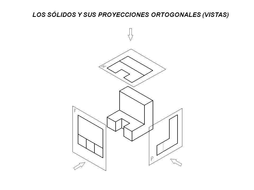 LOS SÓLIDOS Y SUS PROYECCIONES ORTOGONALES (VISTAS)