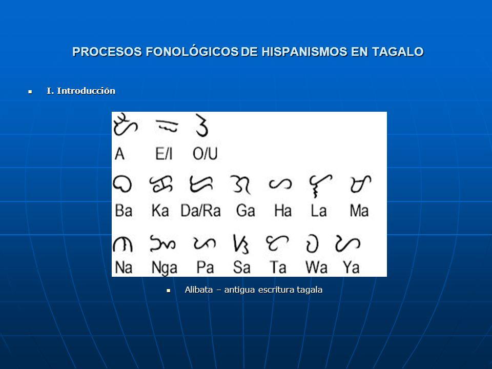 PROCESOS FONOLÓGICOS DE HISPANISMOS EN TAGALO Resumen Resumen Este trabajo aborda los procesos fonológicos en las palabras tagalas de origen español e