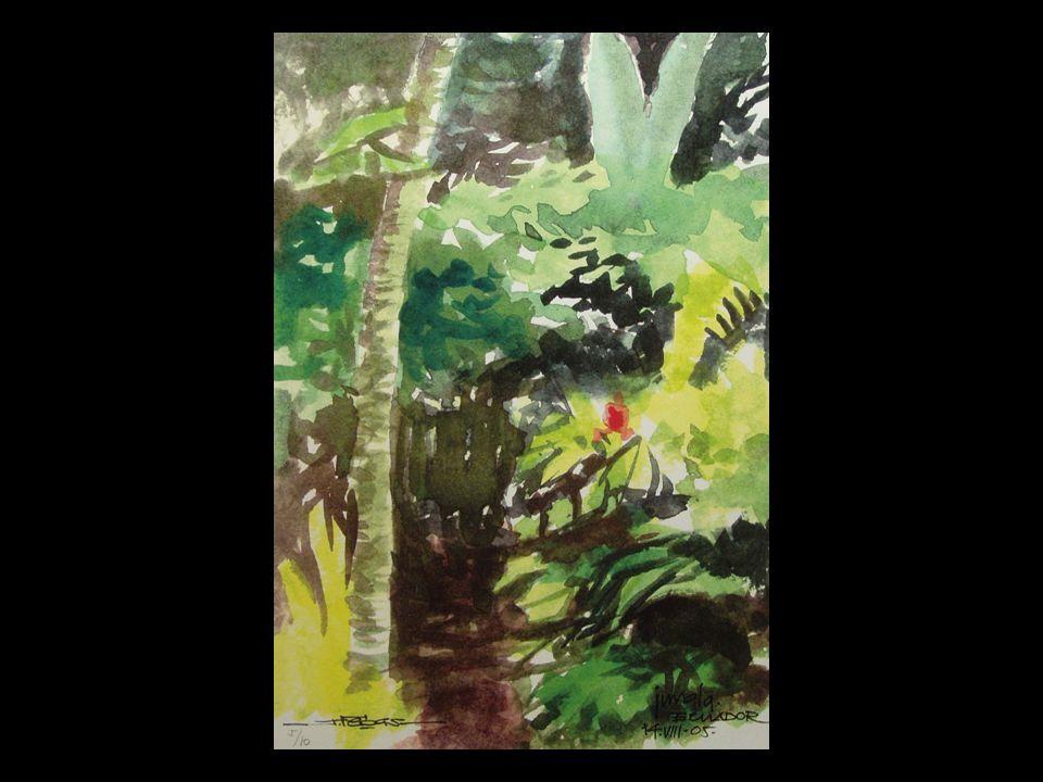 Desde sus viajes, donde el color inunda la selva, nos deleita Julián Vegas, pintor del instante, del dibujo en el aire y amo de la divina proporción.