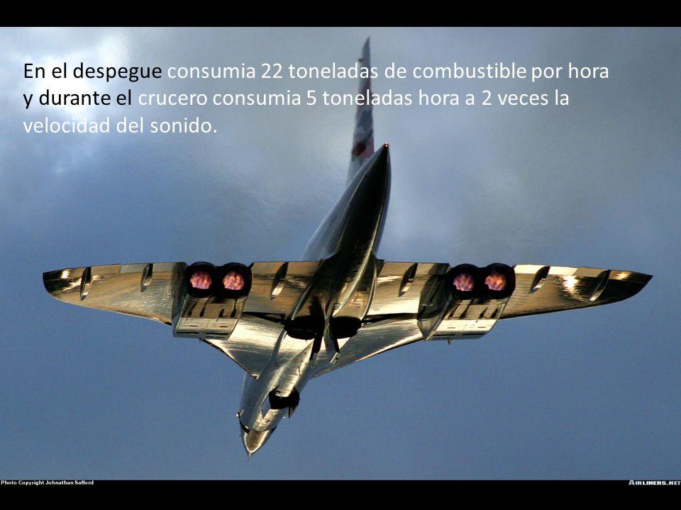 Cada motor del Concorde tiene la potencia de 38 mil libras de empuje. Sumando los 4 motores son 152 mil libras de empuje. Para comparar, el Focker 100