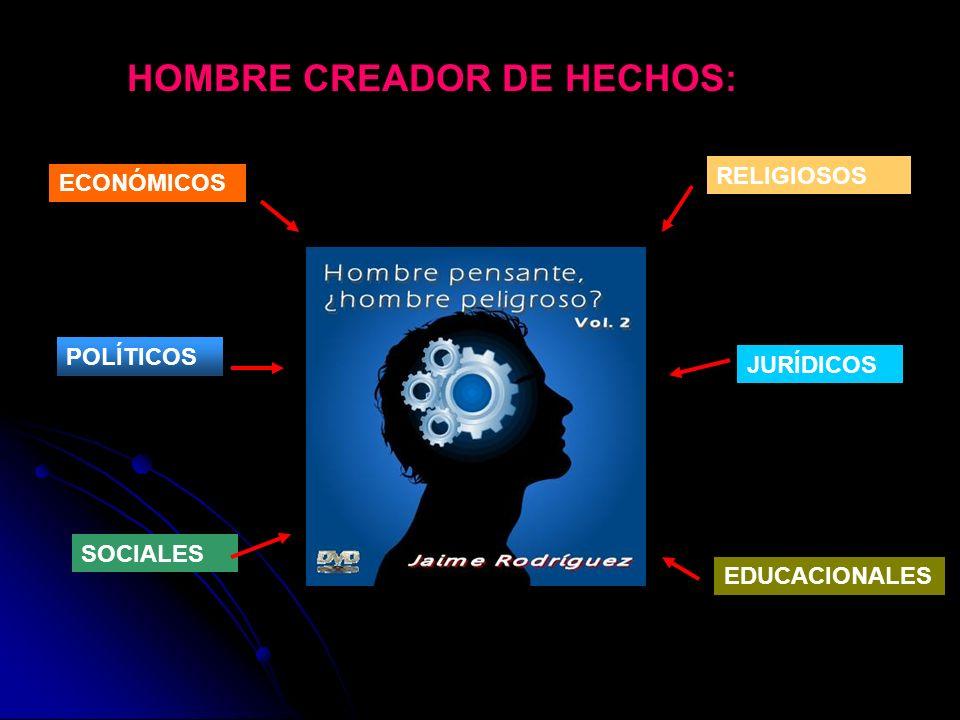 HOMBRE CREADOR DE HECHOS: RELIGIOSOS JURÍDICOS SOCIALES POLÍTICOS ECONÓMICOS EDUCACIONALES