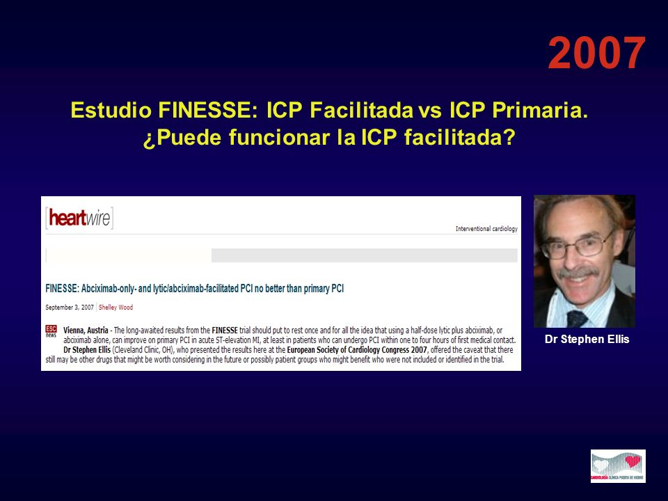 Estudio CARESS Estrategia farmacoinvasiva Tras GRACIA, CAPITAL y SIAM-3 OR 0.34 p=0.001 17.4 6.7 3.4 2.3 INTERVALO (HORAS) ENTRE FNL E ICP