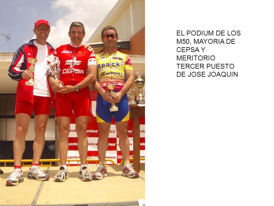 EL PODIUM DE LOS M50, MAYORIA DE CEPSA Y MERITORIO TERCER PUESTO DE JOSE JOAQUIN
