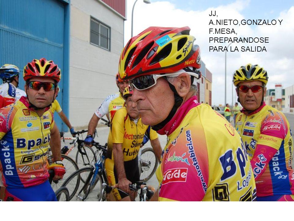 JJ, A.NIETO,GONZALO Y F.MESA, PREPARANDOSE PARA LA SALIDA