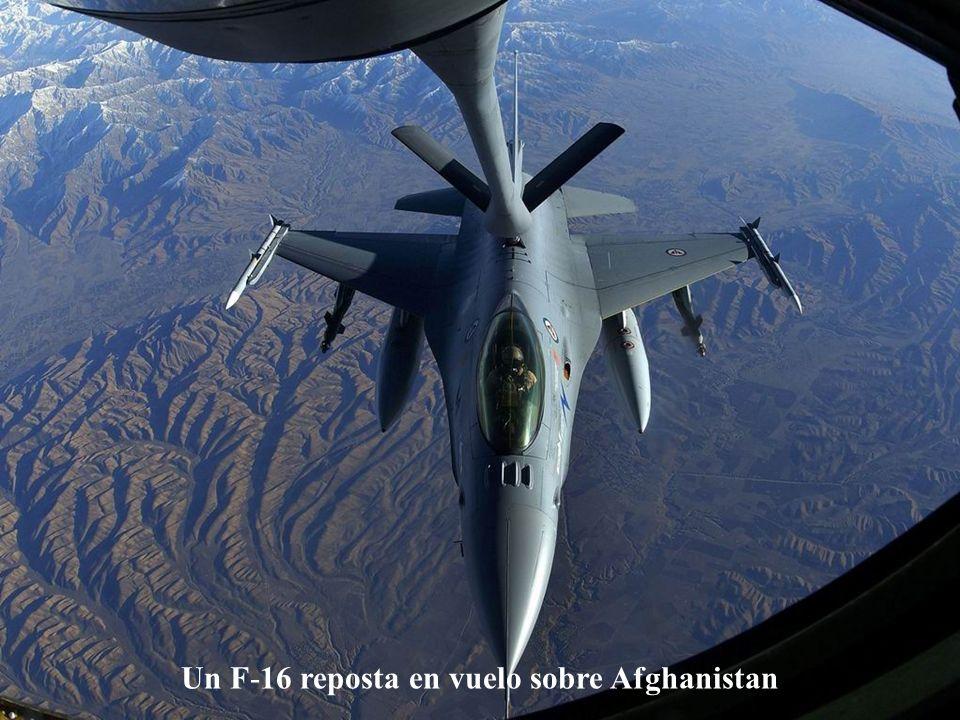 Un F-22 Raptor suelta bengalas