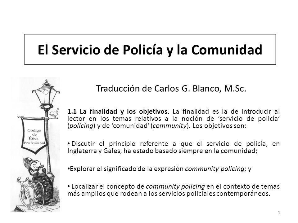 Traducción de Carlos G. Blanco, M.Sc. 1.1 La finalidad y los objetivos. La finalidad es la de introducir al lector en los temas relativos a la noción