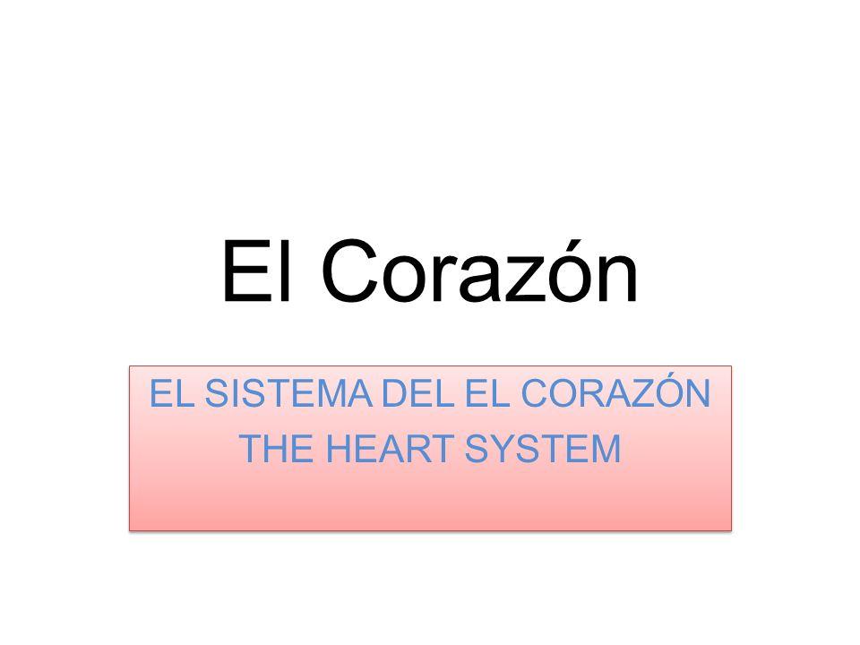 El Corazón EL SISTEMA DEL EL CORAZÓN THE HEART SYSTEM EL SISTEMA DEL EL CORAZÓN THE HEART SYSTEM