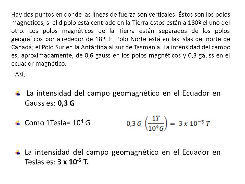 Hay dos puntos en donde las líneas de fuerza son verticales.