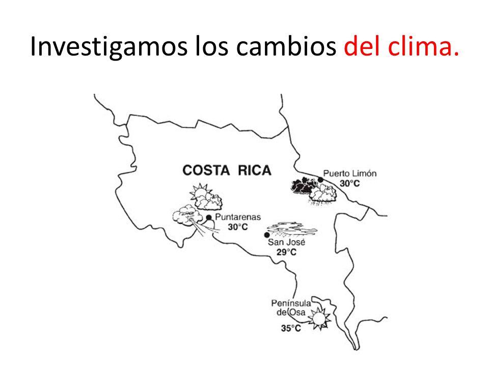 Investigamos los cambios del clima.